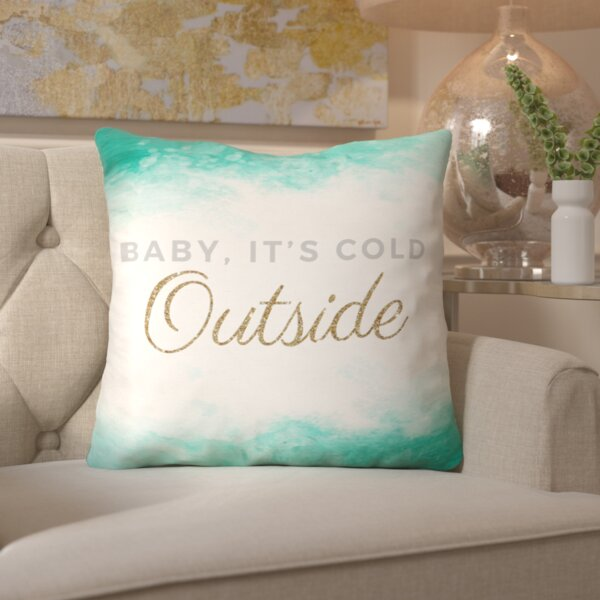 Its So Cold Throw Pillow by Mercer41
