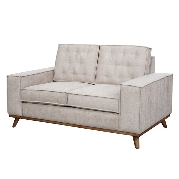 Pamela Welt Trim Loveseat by Corrigan Studio
