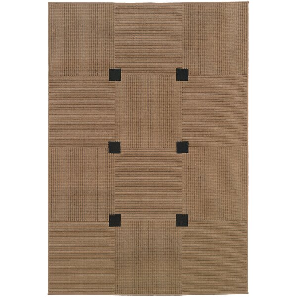 Cedric Brown Indoor/Outdoor Area Rug by Bay Isle Home