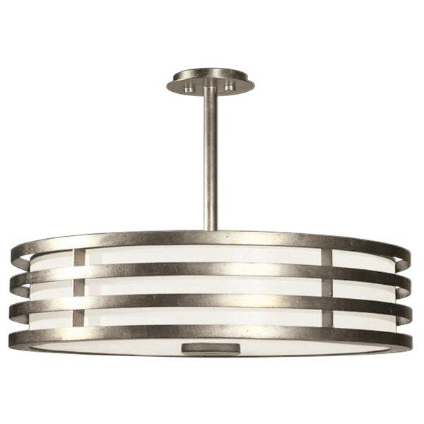 Portobello Road 3-Light Unique / Statement Drum Chandelier by Fine Art Lamps Fine Art Lamps