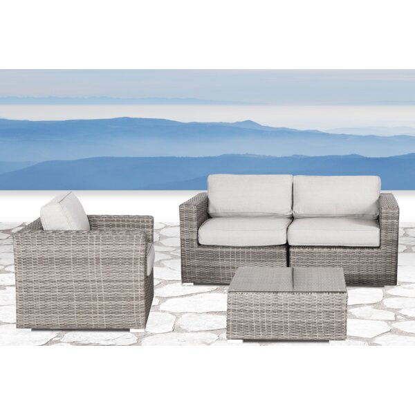 Vardin 4 Piece Sectional Set with Cushions by Rosecliff Heights