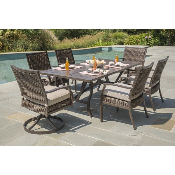 Bedard 7 Piece Dining Set with Umbrella Cushions by Darby Home Co Darby Home Co