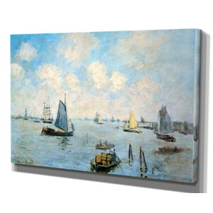 'Sea at Le Havre' by Claude Monet Framed Painting Print by Wexford Home