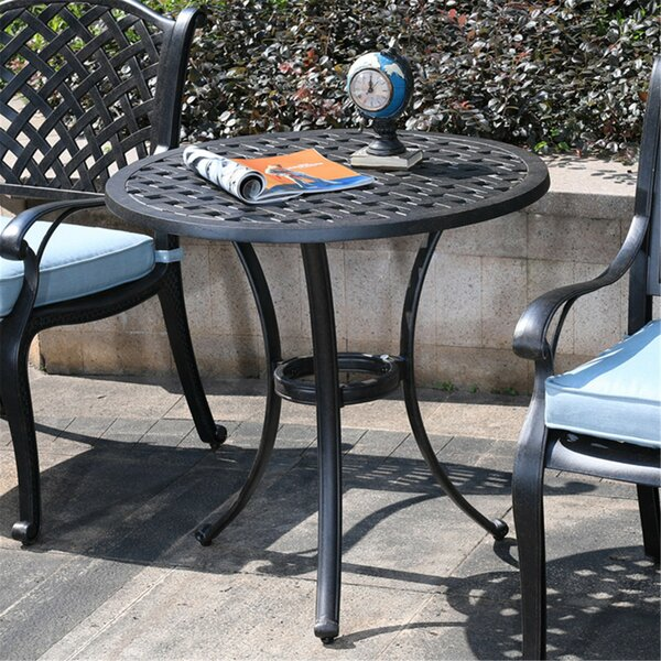 Rheaume Aluminum Bistro Table by Charlton Home