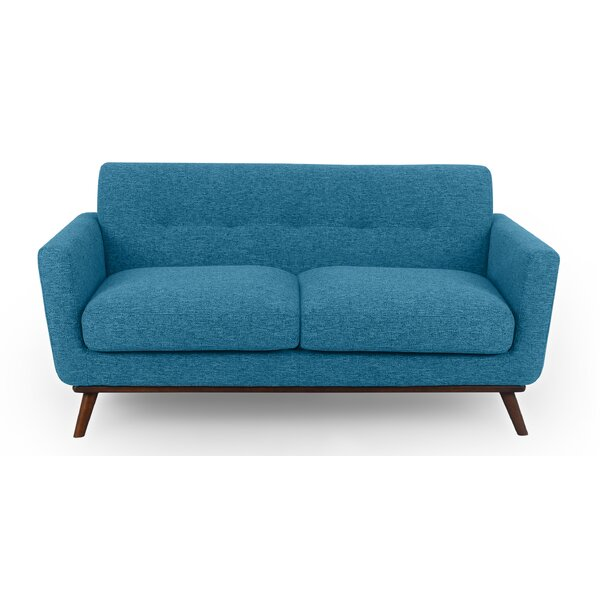 Luther Mid-Century Loveseat by Corrigan Studio