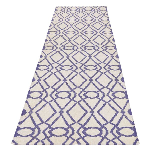 Flat Weave Reversible Durie Kilim Hand-Knotted Ivory Area Rug by House of Hampton