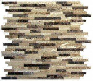 12 x 12 Marble Mosaic Tile in Brown/Black by Interceramic