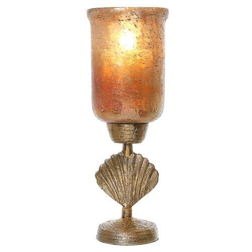 Windlicht Fan Shell aus Metall Marlow Home Co. | Dekoration > Kerzen und Kerzenständer > Windlichter | Marlow Home Co.
