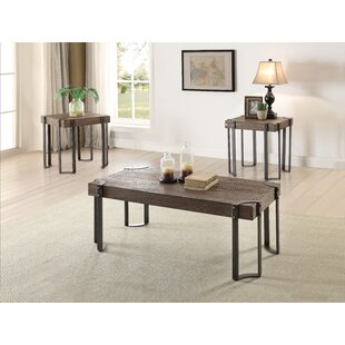 Cristobal 3 Piece Coffee Table Set 17 Stories
