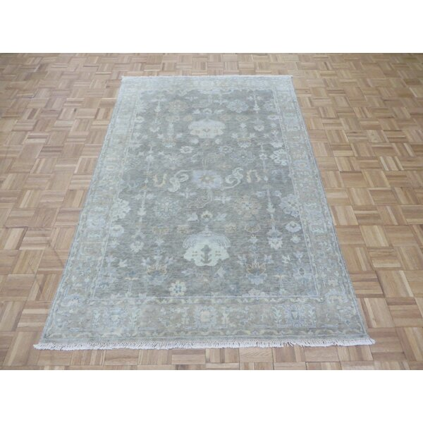One-of-a-Kind Josephson Turkish Oushak Hand-Knotted Wool Gray Area Rug by Canora Grey