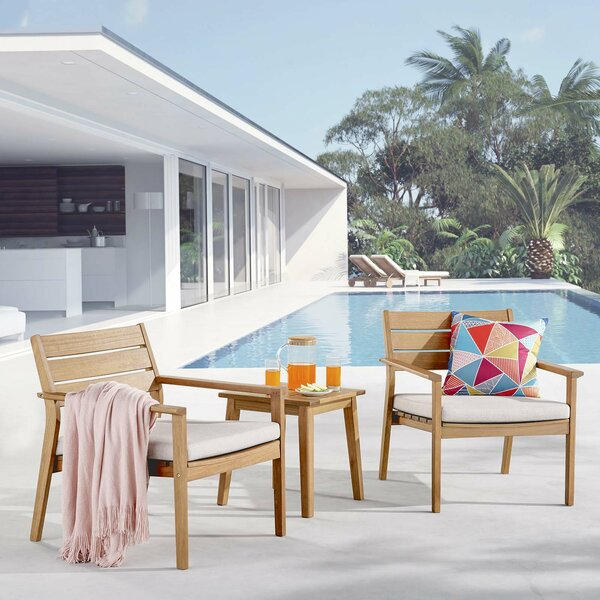 Emrys 3 Piece Seating Group with Cushions by Rosecliff Heights