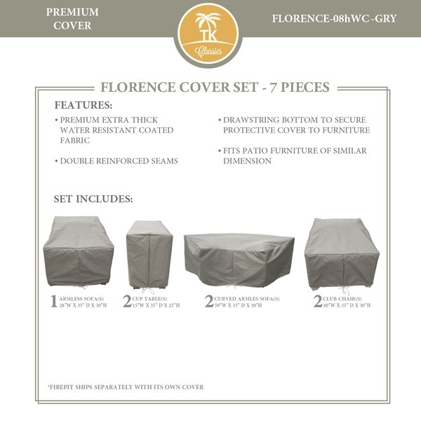 Forence 7 Piece Water Resistant Patio Furniture Cover Set by TK Classics