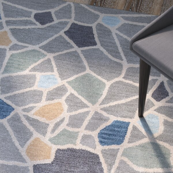 Rigoberto Hand-Tufted Gray Area Rug by Brayden Studio