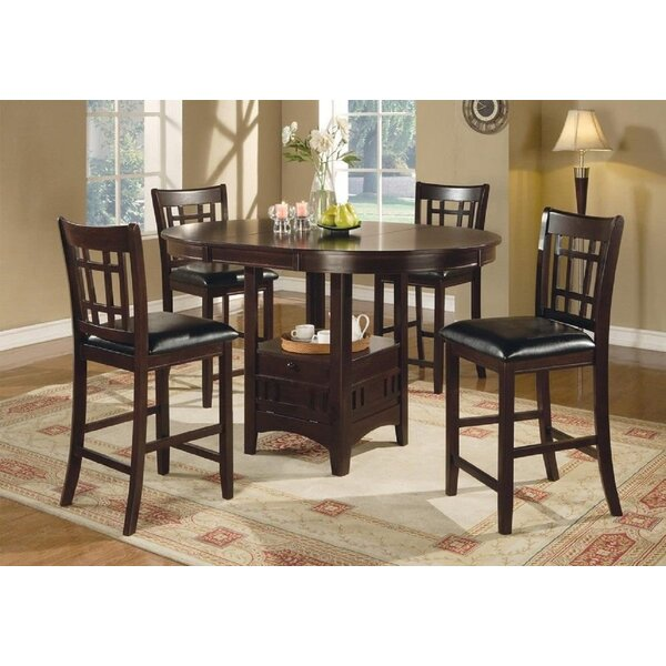 Grube 5 Piece Counter Height Extendable Dining Set by Red Barrel Studio