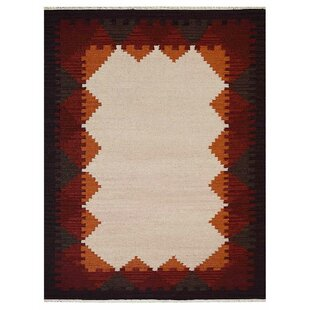 Best St Catherine Handmade Wool White Plum Area Rug By Millwood Pines