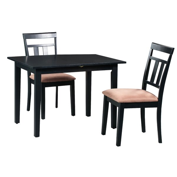 Fontinella 3 Piece Extendable Solid Wood Dining Set By Alcott Hill 2019 Sale