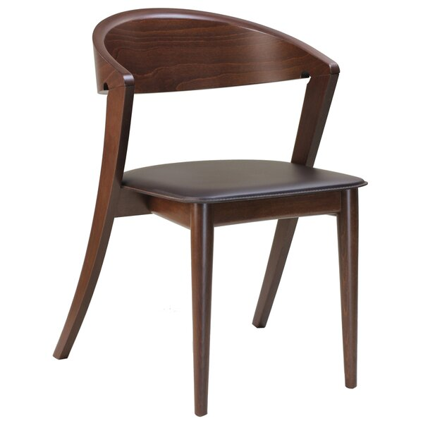 Cortina Genuine Leather Upholstered Dining Chair (Set of 2) by Adriano