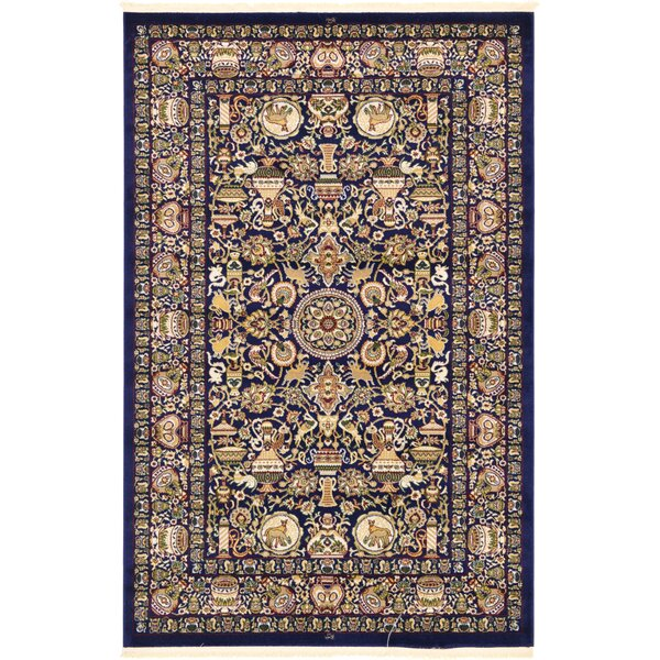 Altadena Navy Blue/Gold/Green Area Rug by World Menagerie