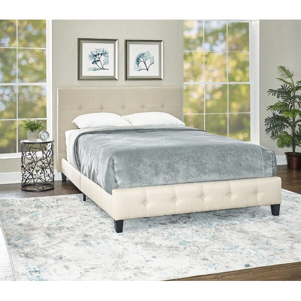 Abrams Upholstered Platform Bed by Alcott Hill