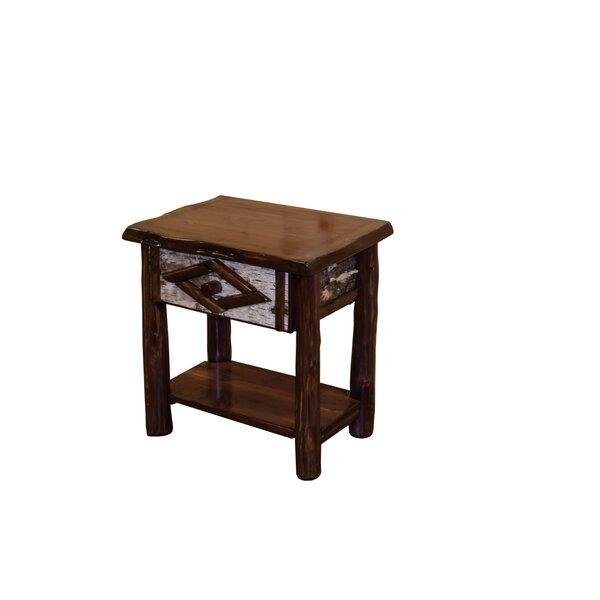 Minehead 1 Drawer Nightstand by Loon Peak