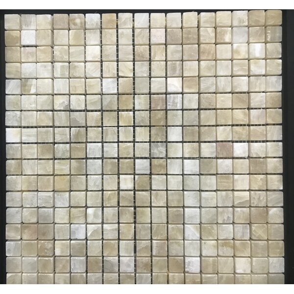 Pompeya Onyx 0.66 x 0.66 Natural Stone Mosaic Tile in Beige by Kertiles