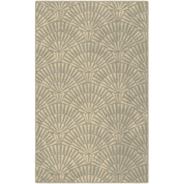 Howerton Art Deco in Neutral Beige Area Rug by Highland Dunes