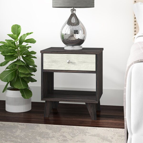 Pinkerton 1 Drawer Nightstand by Wrought Studio