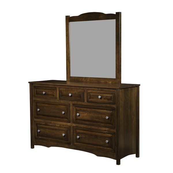 Restormel 7 Drawer Double Dresser with Mirror by Canora Grey