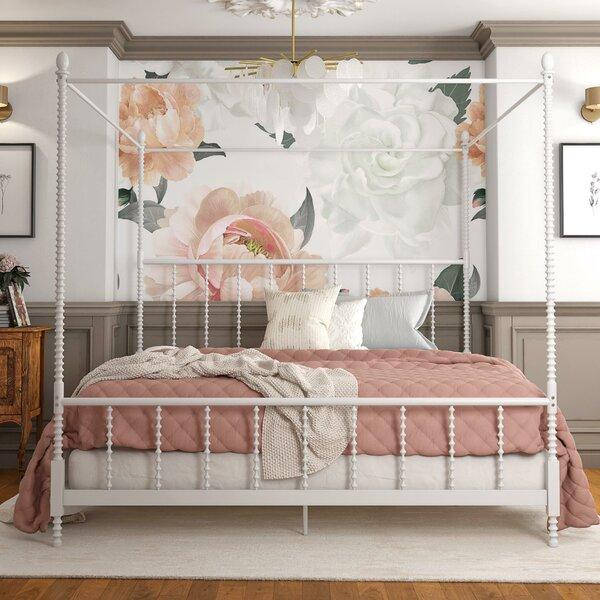 Karlee Metal Canopy Bed by Gracie Oaks