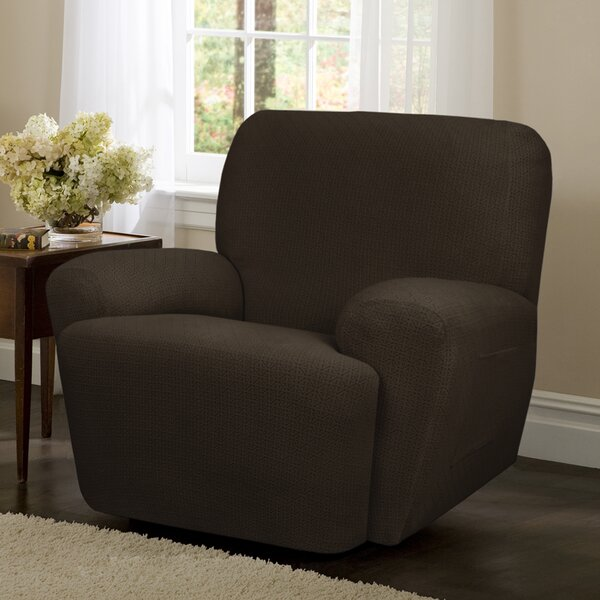 Torie Stretch 4 Piece Box Cushion Recliner Slipcover Set by Maytex