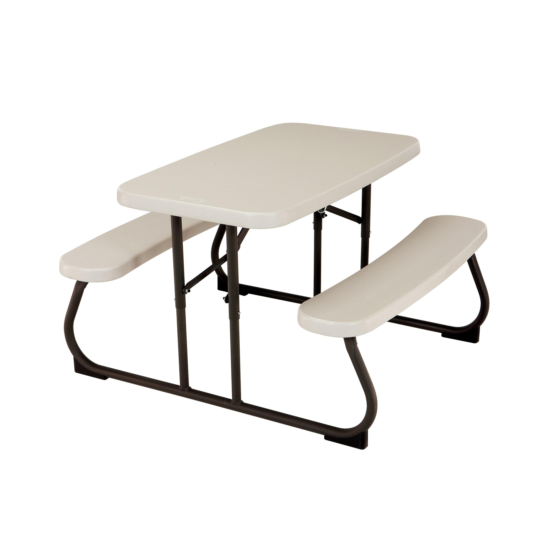Amazing Lifetime Kids Plastic Resin Picnic Table Reviews Wayfair Dailytribune Chair Design For Home Dailytribuneorg