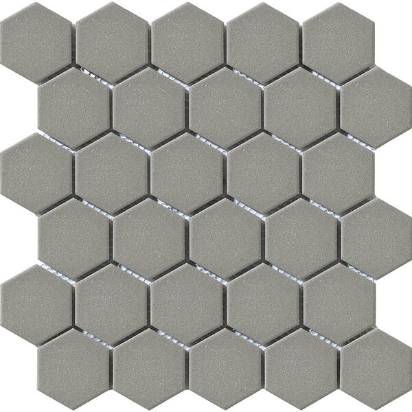 Urban 2 x 2 Porcelain Mosaic Tile in Grey Hexagon by Walkon Tile