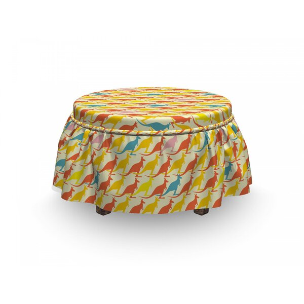 Overlapping Doodled Ottoman Slipcover (Set Of 2) By East Urban Home