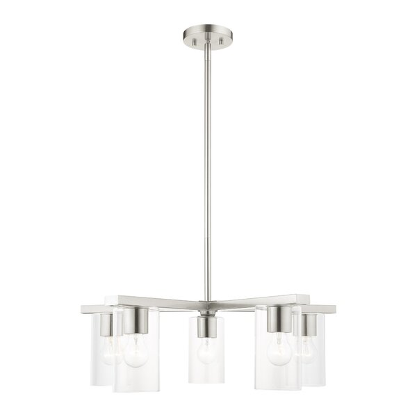 Tesfai 5 - Light Shaded Classic Chandelier by Ebern Designs Ebern Designs