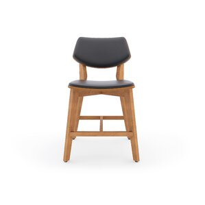 Kasper Genuine Leather Upholstered Dining Chair by Kure