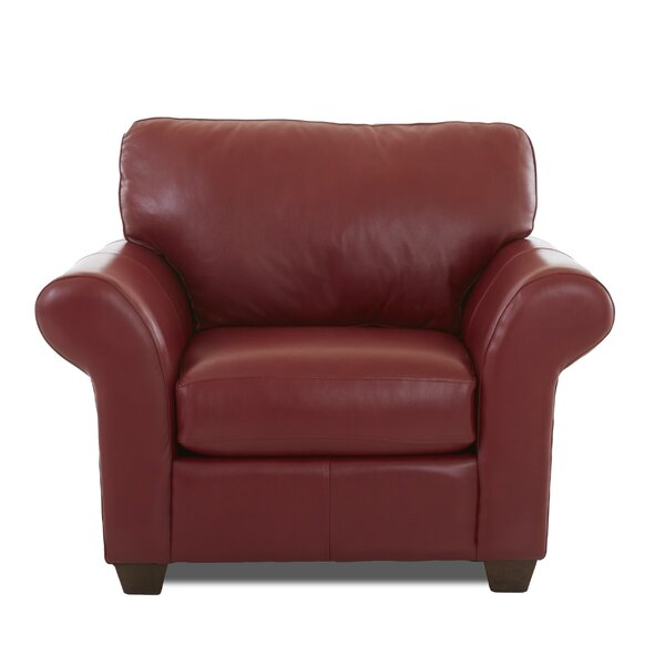 Alyson Leather Armchair by Wayfair Custom Upholstery Wayfair Custom Upholstery™