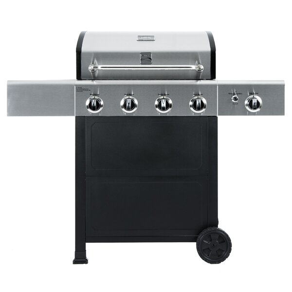Kenmore 4 Burner Propane Gas Grill with Side Burner by Kenmore