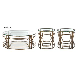 Compare prices George Living Room 3 Piece Coffee Table Set By Willa Arlo Interiors