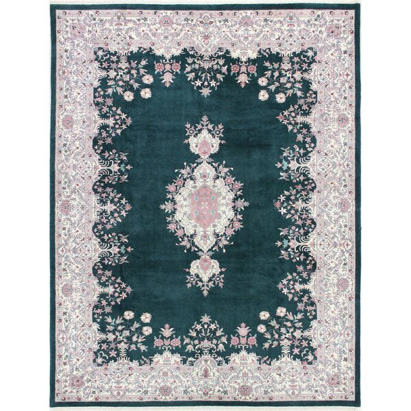 One-of-a-Kind Barnes Hand-Woven Wool Green/Ivory Area Rug by Canora Grey