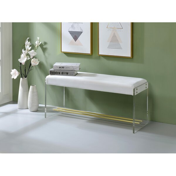 Khadijah Upholstered Bench by Everly Quinn