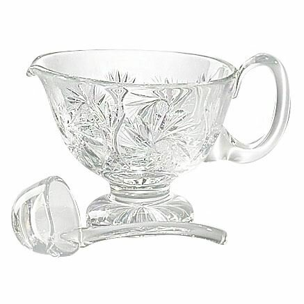 Salvatore Handcut Crystal Gravy Boat by Astoria Grand