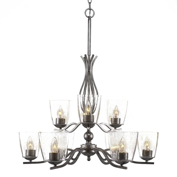 Hiroko 9-Light Candle-Style Chandelier by Red Barrel Studio