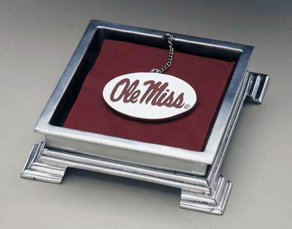 NCAA Flat Napkin Holder by Arthur Court Designs