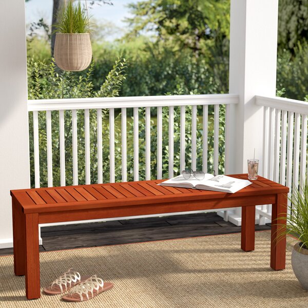 Elsmere Wooden Picnic Bench by Beachcrest Home