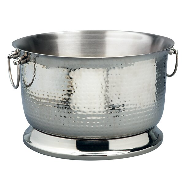 Jeffords Hammered Stainless Steel Double Wall Beverage Tub by Alcott Hill