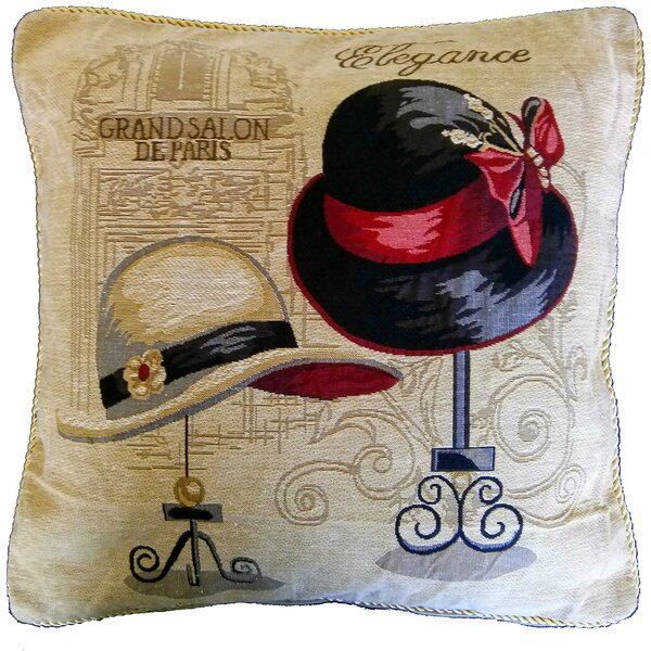 Window Shopping In Paris Pillow Case (Set of 2) by Tache Home Fashion