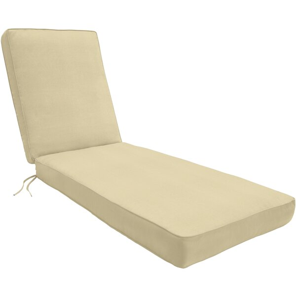 Indoor/Outdoor Sunbrella Chaise Lounge Cushion by Wayfair Custom Outdoor Cushions
