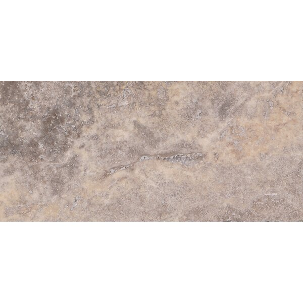 Honed 3 x 6 Travertine Subway Tile in Gray by MSI