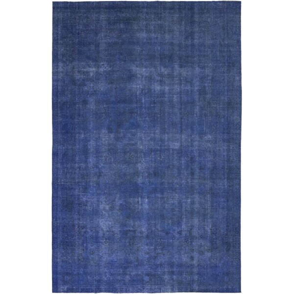 One-of-a-Kind Darryl Hand-Knotted Wool Blue Indoor Area Rug by Isabelline