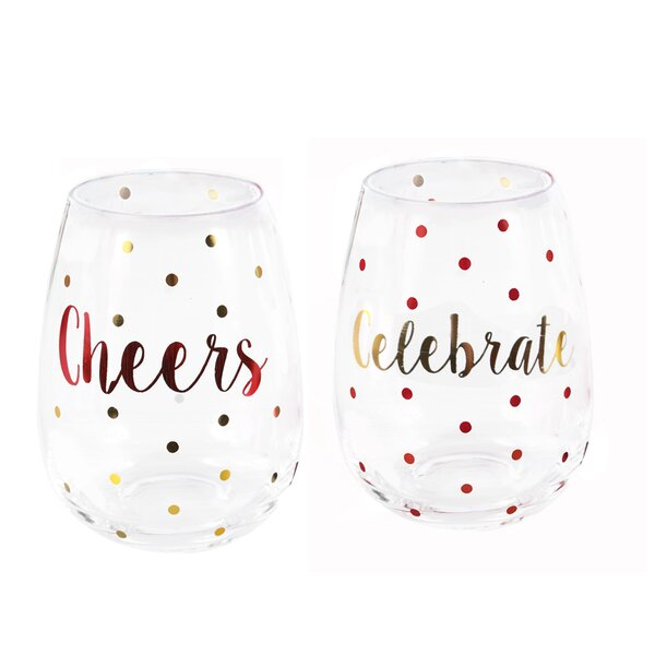 Sparkle and Shine 2 Piece 20 Oz. Wine Glass Set by DEI